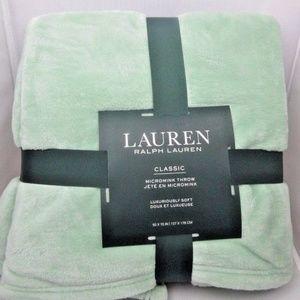 Lauren Ralph Lauren Micromink Throw Blanket NEW